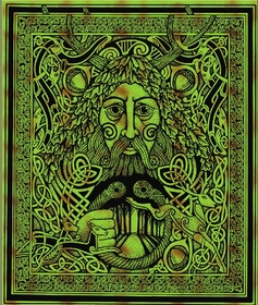 Greenman of the Forest Tapestry & Bedspread
