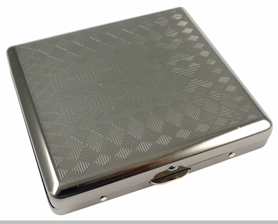 Gun Metal Patterned Cigarette Case (Assorted) (Regular Size)<!-- Click to Enlarge-->