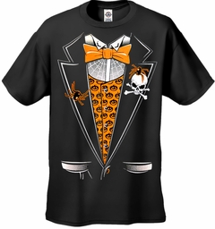 Halloween Pumpkin Vest Tuxedo Men's T-Shirt