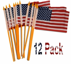 Hand Held American Flags (12 Pack) ONLY .33 Cents Each