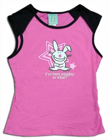 Happy Bunny I've Been Naughty Raglan Tee