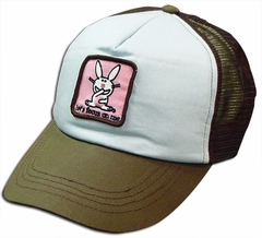 Happy Bunny Let's Focus On Me Girls Trucker Hat