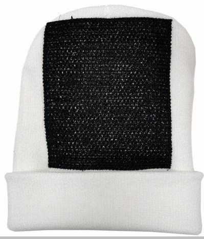 Head Spin Beanies - BBOY Headspin Break Dance Beanie (White/ Black)<!-- Click to Enlarge-->