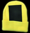 Head Spin Beanies - Neon Yellow Black Light Reactive Headspin Beanie
