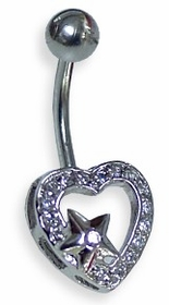Heart & Star Navel Jewelry