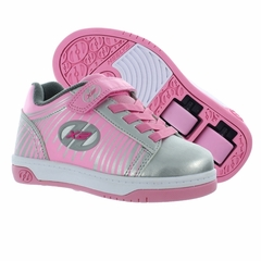 Heely's Dual Up X2 Roller Shoe, Silver/Pink