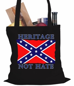 Heritage, Not Hate Confederate Flag Tote Bag