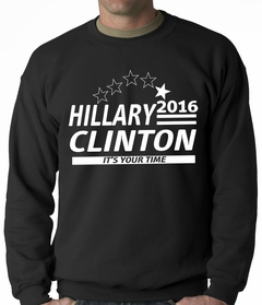 Hillary Clinton Presidential Campaign 2016 Adult Crewneck