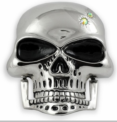 Hinged Jaw Skull Buckle With FREE Leather Belt<!-- Click to Enlarge-->