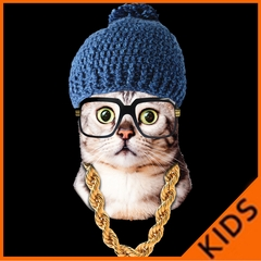 Hipster Kitten Kids T-shirt