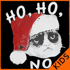 Ho Ho No  Angry Cat Kid's T-Shirt
