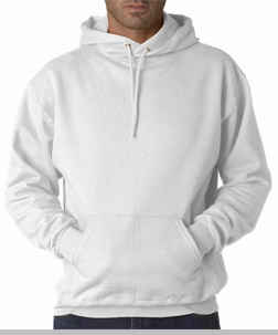 Hooded Sweatshirt :: Unisex Pull Over Hoodie (White)<!-- Click to Enlarge-->