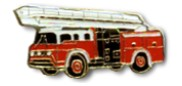 Hook & Ladder Fire Truck Lapel Pin