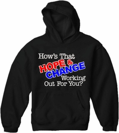 Hope and Change Adult Hoodie