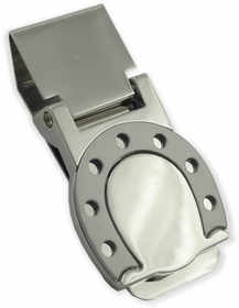 Horse Shoe Hinged Money Clip
