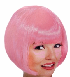 Hot Pink Colored Wigs - Hot Pink Wig