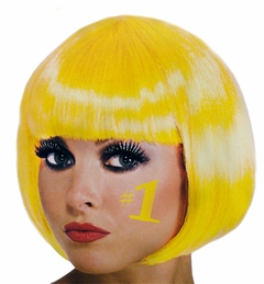Hot Yellow Colored Wig - Yellow Wig