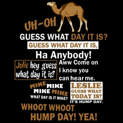 Hump Day Camel T-Shirt (Brown & White Print)