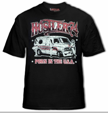 Hustler Porn in The USA T-Shirt<!-- Click to Enlarge-->