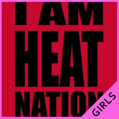 I Am Heat Nation Basketball Girls T-shirt