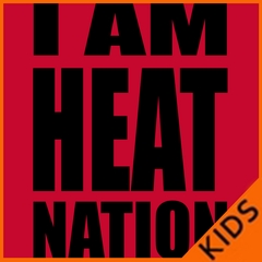 I Am Heat Nation Basketball Kids T-shirt