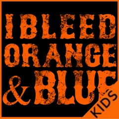 I Bleed Orange And Blue New York Baseball Kids T-shirt