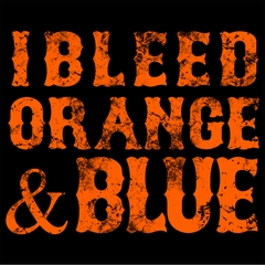 I Bleed Orange And Blue New York Baseball Mens T-shirt