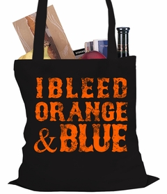 I Bleed Orange And Blue New York Baseball Tote Bag