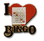 I Love Bingo Lapel Pin