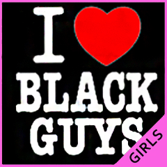 I Love Black Guys Girls T-Shirt