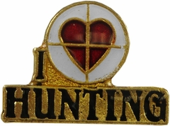 I Love Hunting Lapel Pin