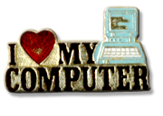 I Love My Computer Lapel Pin