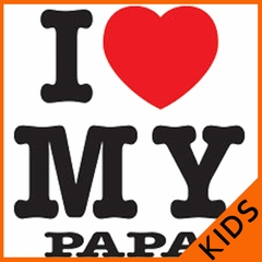I Love My Papa Kids T-Shirt