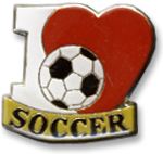 I Love Soccer Lapel Pin