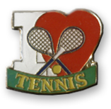 I Love Tennis Lapel Pin