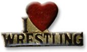 I Love Wrestling Lapel Pin