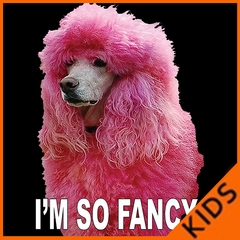 I'm So Fancy - Pink Poodle Kids T-shirt