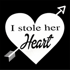 I Stole Her Heart Couples Mens T-shirt