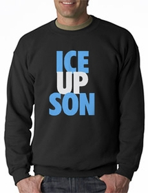 Ice Up Son  Carolina  Crew Neck Sweatshirt (Black)