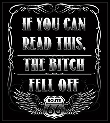 If You Can Read This, The B*tch Fell Off Biker T-Shirt (Back Print)