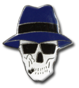 Incognito Skull Lapel Pin