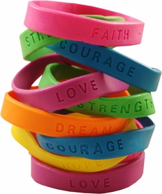 Inspirational Sayings Gel Bracelets 12 Pack (Only 42¢ each!)