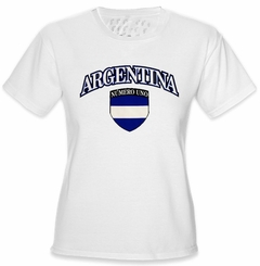 International Soccer Shirts - Argentina Crest T-Shirt (Girls)