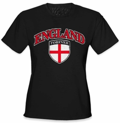 International Soccer Shirts - England Crest T-Shirt (Girls)