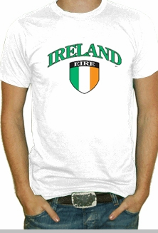 International Soccer Shirts - Ireland Crest T-Shirt (Mens)<!-- Click to Enlarge-->