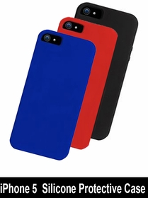iPhone 5 Case (Colors) - Silicone Protective Case for iPhone 5 (Choose Colors)