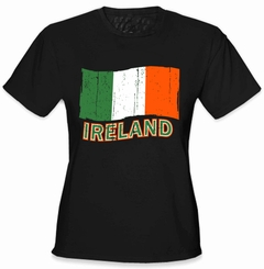Ireland Vintage Flag Girl's T-Shirt