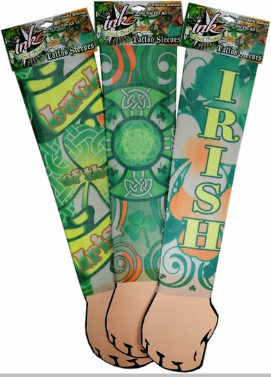 Tattoo Sleeves - Irish Celtic Design Tattoo Sleeves (Pair)<!-- Click to Enlarge-->