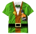 Irish Leprechaun Tuxedo All Over Sublimation Print Mens T-shirt