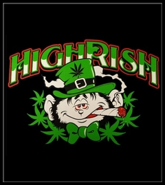 Irish Pothead T-Shirt - Highrish Stoned Leprechaun T-Shirt